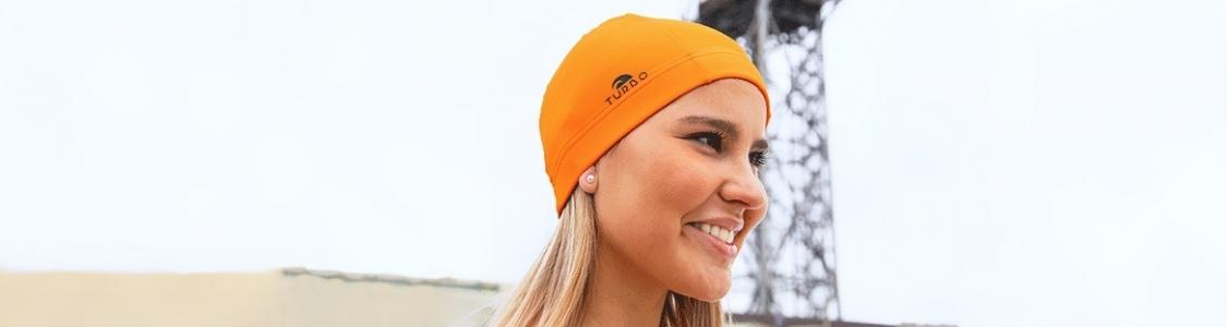 Polyester & Lycra Swim Caps | TURBO